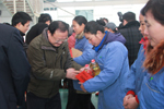 Ten workers of Jaysun Glove were sponsored by Trade Union of Suqian City